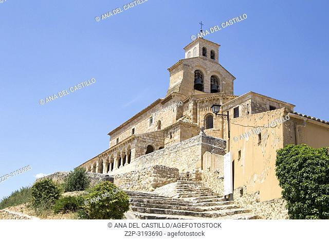 Our lady of Rivero church San Esteban de Gormaz village Soria province Castile Leon Spain