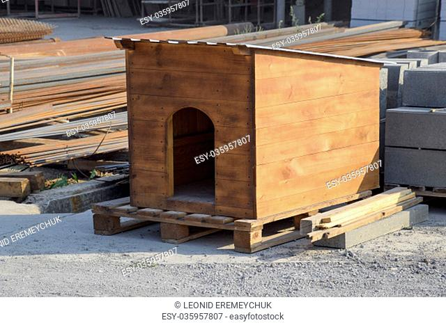 doghouse made at the factory. House for a dog