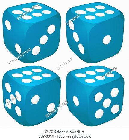 Set of blue casino craps