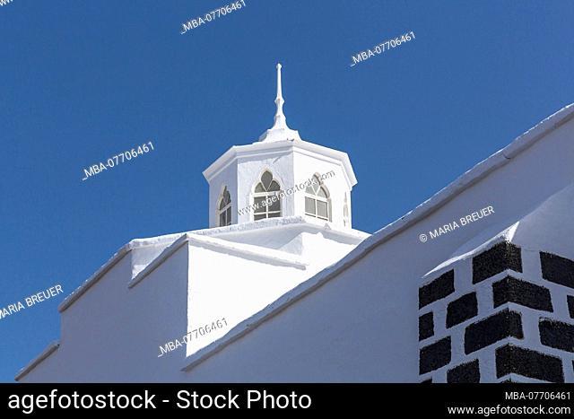 Church Nuestra Senora de los Dolores, Mancha Blanca, Tinajo, Lanzarote, Canary Islands, Spain, Europe