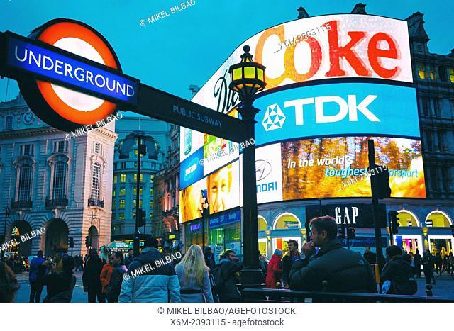 Picadilly Circus. London, England, United kingdom, Europe