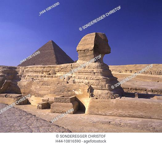 Pyramids, sphinx, Gizeh, Cairo, Egypt