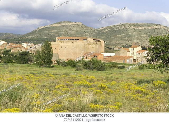 Mora de Rubielos village Gudar mountains Teruel Aragon Spain