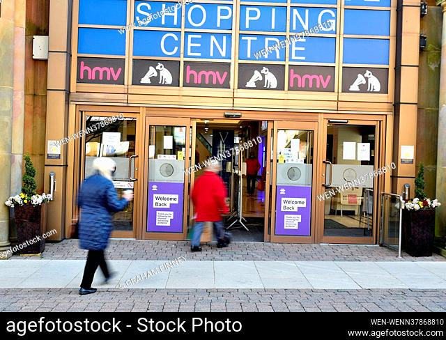 Non-essential shops start to open up again on High Streets across the UK on April 12, 2021, as the next stage of COVID-19 restrictions are lifted by the...