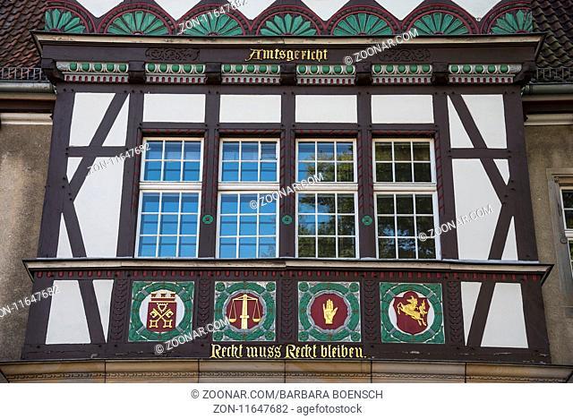 district court, Petershagen, East Westphalia-Lippe, Germany, Europe, Amtsgericht, Petershagen, Ostwestfalen-Lippe, Deutschland, Europa