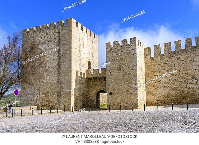The Castle of Elvas, Garrison Border Town of Elvas and its Fortifications, Portalegre District, Alentejo Region, Portugal, Europe