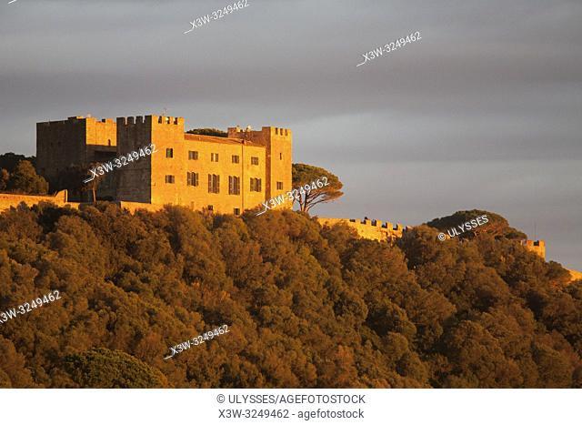 Ancient Castle, Castiglione della Pescaia, province of Grosseto, Tuscany, Italy, Europe