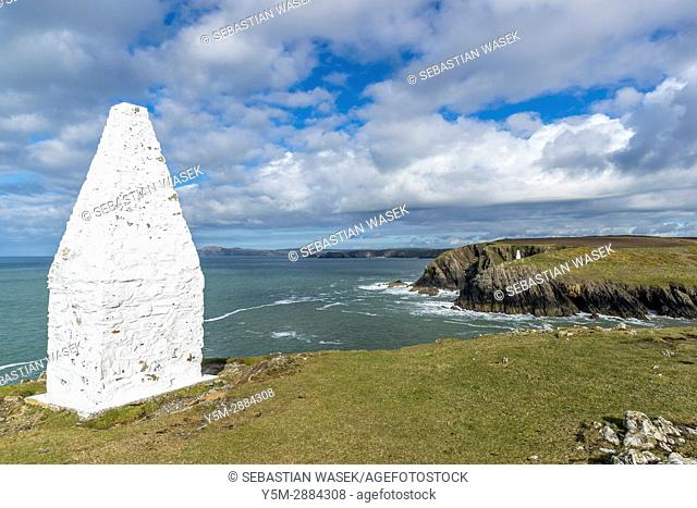 Pembrokeshire Coast Path from Abereiddy to Porthgain, Pembrokeshire Coast National Park, Porthgain, Wales, United Kingdom, Europe