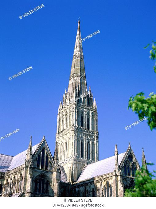 Cathedral, Church, England, United Kingdom, Great Britain, Europe, Holiday, Landmark, Salisbury, Tourism, Tower, Travel, Vacatio
