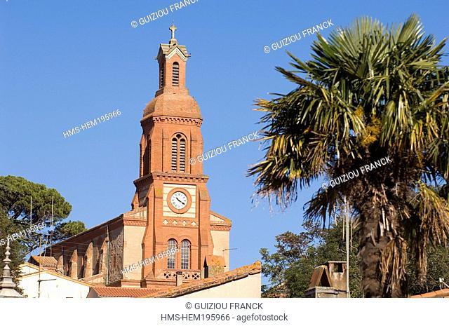 France, Haute Garonne, Gardouch, village in Lauragais region, Saint Martin Church