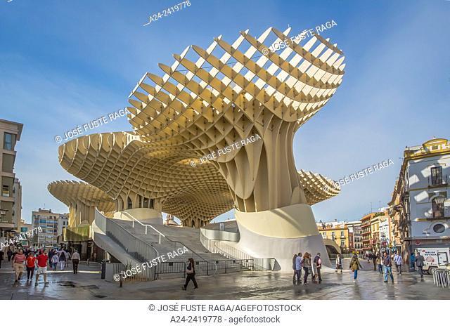 "Spain , Andalucia Region, Sevilla City ,Encarnacion Square, Metropol Parasol known as """"Las Setas"""""