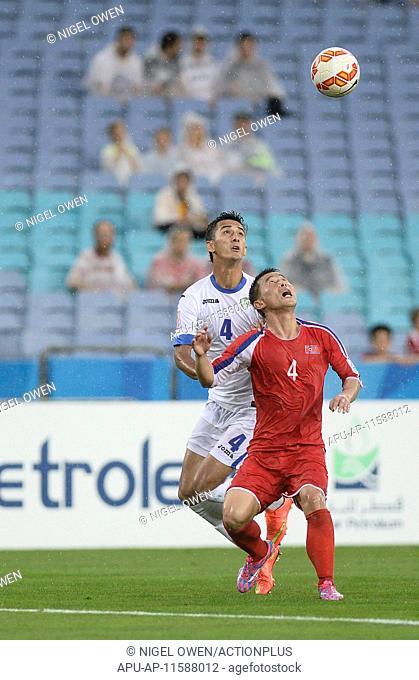 2015 AFC Asian Cup Uzbekistan v DPR Korea Jan 10th. 10.01.2015. Sydney, Australia. AFC Asian Cup Group B . Uzbekistan versus DPR Korea