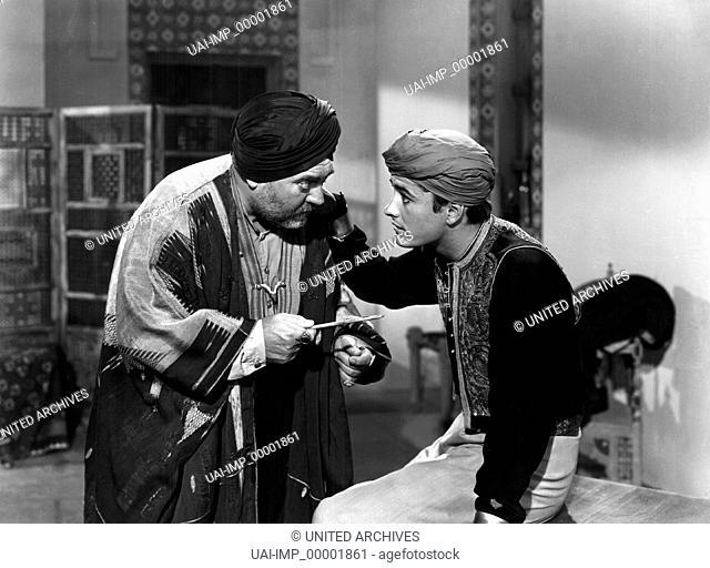 Die Tochter des Kalifen, (THE ADVENTURES OF HAJJI BABA) USA 1954, Regie: Don Weis, DONALD RANDOLPH, JOHN DEREK, Stichwort: Turban