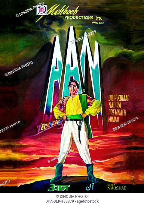 Indian bollywood Film poster of aan India