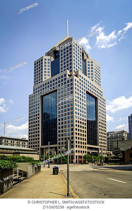 The Highmark building on Fifth Avenue Place Buidling in downtown Pittsburgh Pennsylvania PA