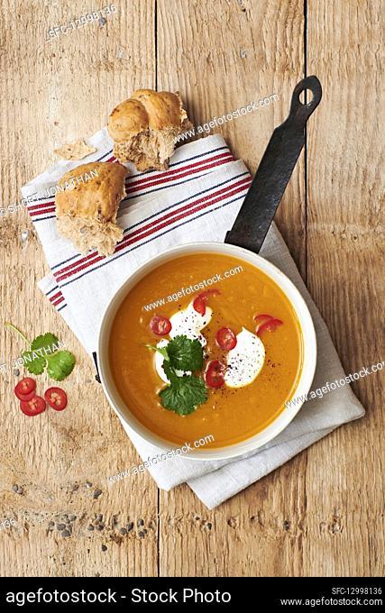 Spiced Sweet Potato and Turmeric Soup