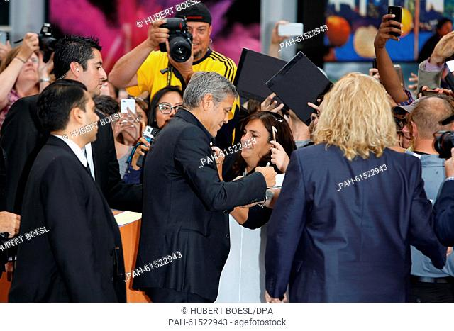 George Clooney attends the premiere of The Martian during the 40th Toronto International Film Festival, TIFF, at Roy Thomson Hall in Toronto, Canada