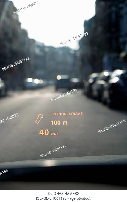Head-up display or heads-up display HUD, driver assistance system