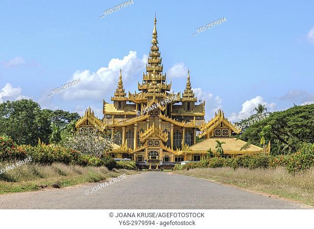 Kanbawzathadi Palace, Bago, Myanmar, Asia