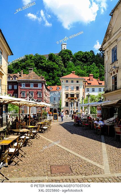 Ljubljana, old town, castle, Ljubljanski grad, Slovenia