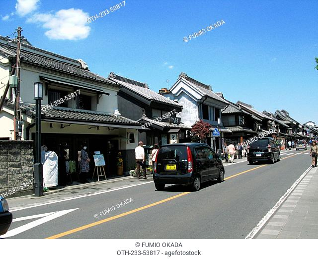 Streetscape at the old town Kawagoe, Japan