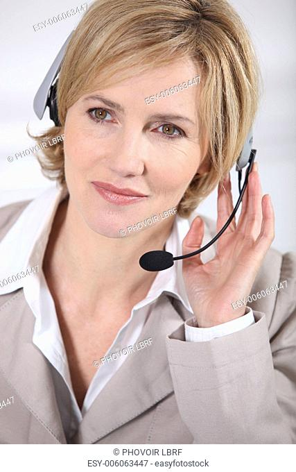 Portrait of a call centre agent
