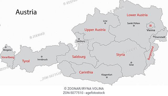 Gray Austria map
