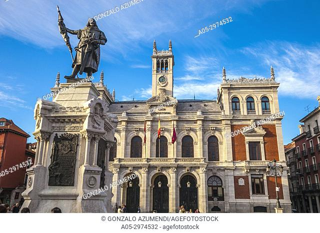 Town Hall at Plaza Mayor Square,Valladolid, Castilla y Leon, Spain