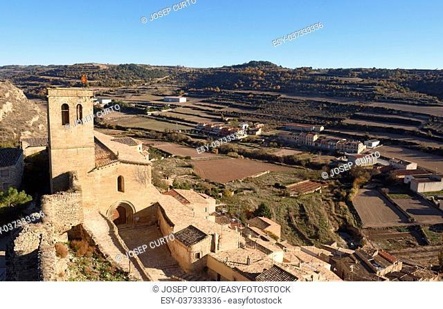 Santa Maria church in Guimera, LLeida province, Catalonia, Spain
