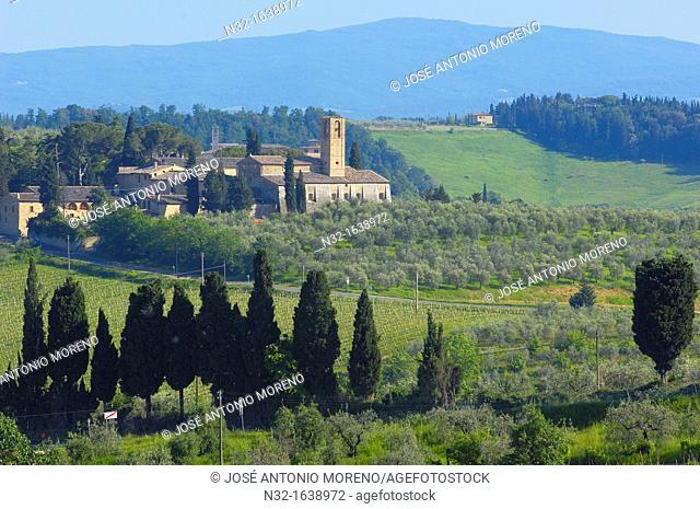 Santa Lucia, San Gimignano, Siena Province, UNESCO World Heritage Site, Tuscany landscape, Italy, Europe