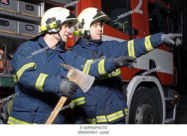 Firemen fire-station Supraphoto