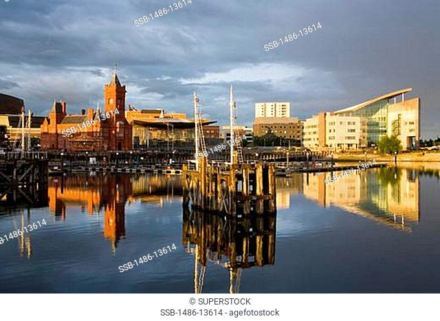 Pierhead Building & Senedd in Cardiff Bay, Wales, United Kingdom, Great Britain, Europe