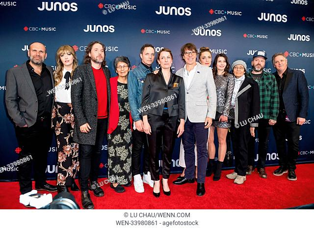 2018 JUNO Awards, held at the Rogers Arena in Vancouver, Canada. Featuring: Kevin Drew, Sarah Harmer, Dallas Green Where: Vancouver, British Columbia
