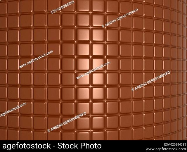 Bent chocolate bar