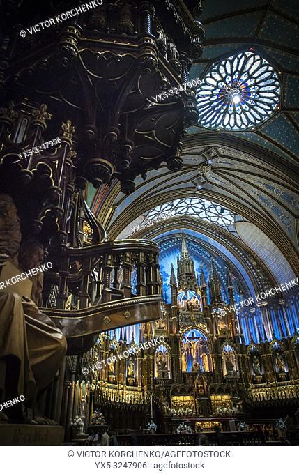 Interior of Notre-Dame Basilica (Montreal)