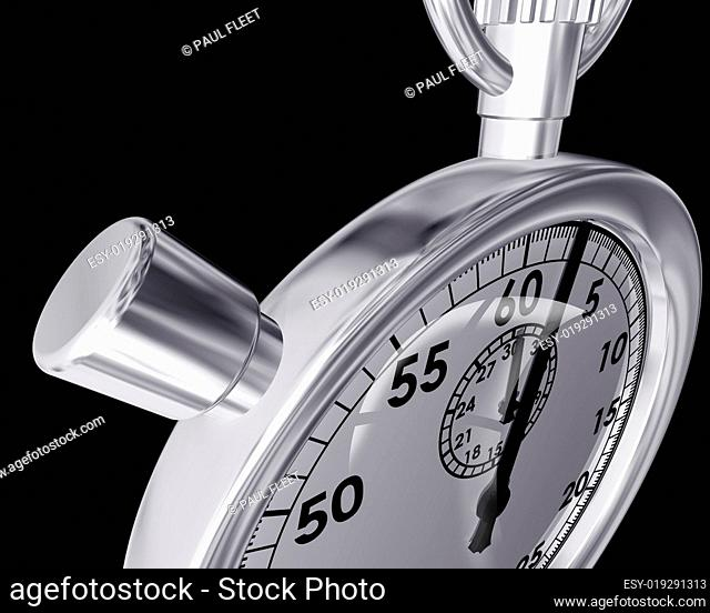 Bizarre angle of a stopwatch