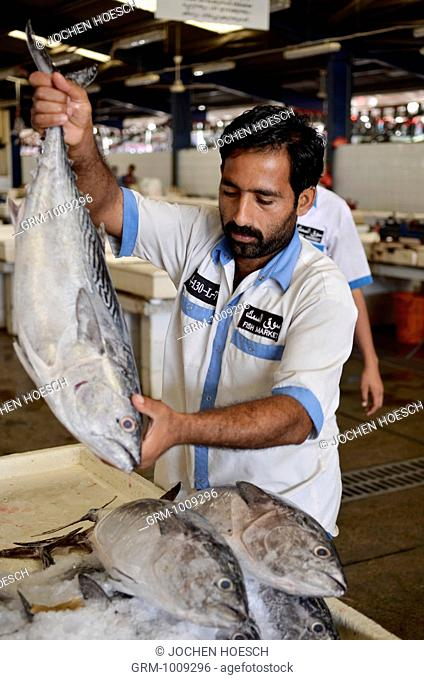 Fresh fish for sale at the fish market in Dubai, UAE