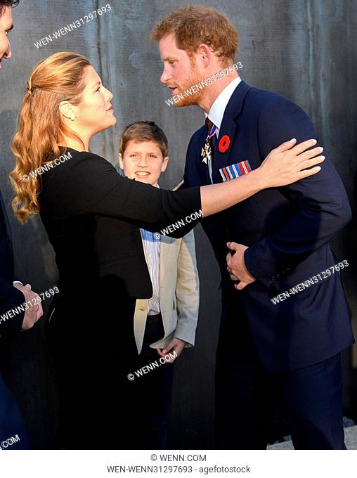 The Prince of Wales, The Duke of Cambridge and Prince Harry attend the Centenary of the Battle of Vimy Ridge Featuring: Prince Harry, Sophie Trudeau Where: Vimy