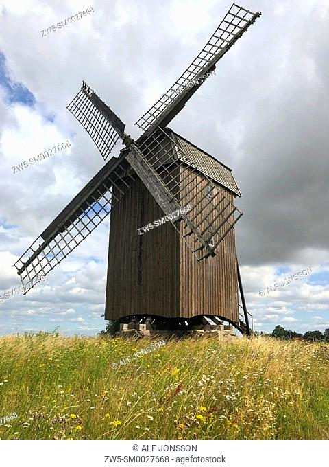 Old windmill in Scania, Sweden