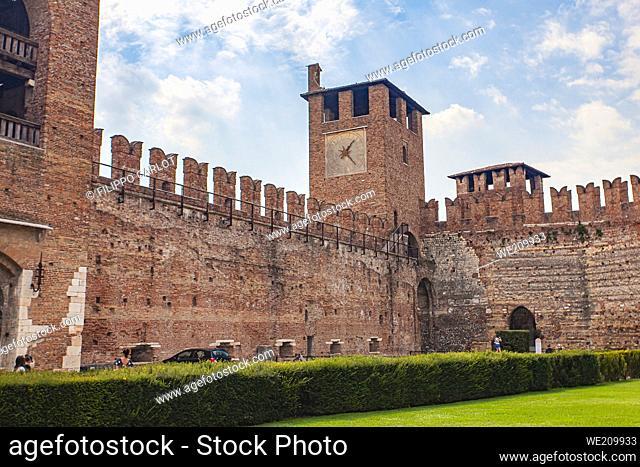Castelvecchio in Verona; a medieval castle in the center of the Italian city