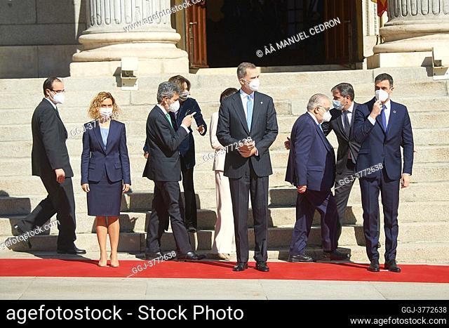 King Felipe VI of Spain, Pedro Sanchez, Prime Minister, Meritxel Batet, Pilar Llop, Carlos Lesmes, Juan Jose Gonzalez Rivas attends '40th anniversary of...