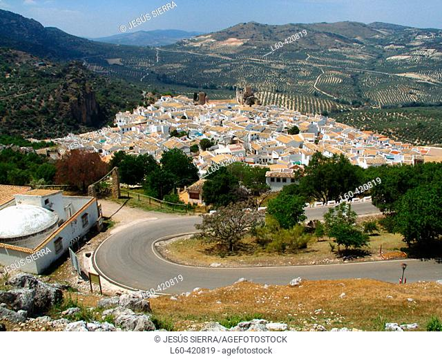 Road to Zuheros. Córdoba province, Andalusia. Spain
