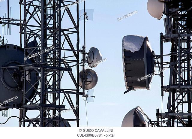 Communication towers, Mottarone, Stresa, Piemonte, Italy