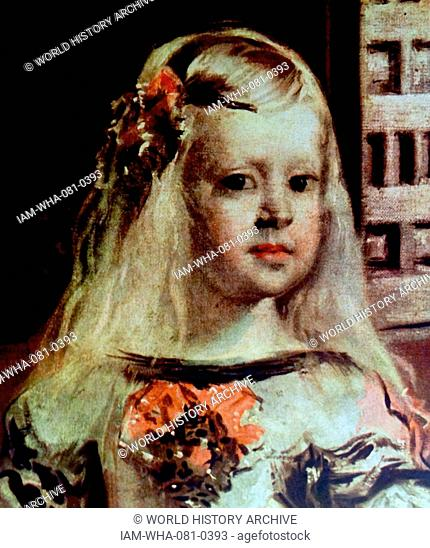 Detail from the painting 'Las Meninas' by Diego Velázquez (1599-1660) a Spanish painter. Dated 17th Century