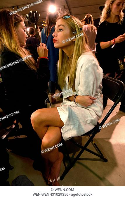 London Fashion Week Autumn/Winter 2017 - Topshop Unique - Front row and Back stage Featuring: Model Where: London, United Kingdom When: 19 Feb 2017 Credit: WENN