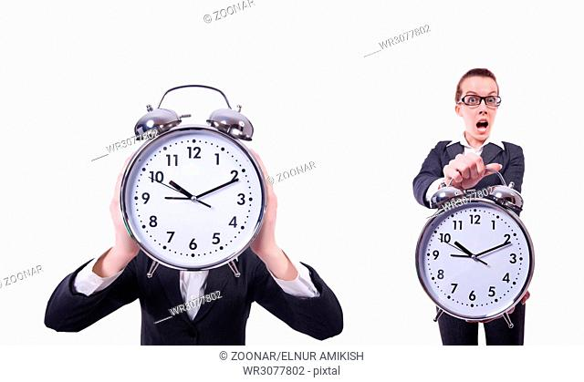 Funny businesswoman in collage set