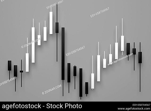 stock market diagram as business symbol - 3D Illustration
