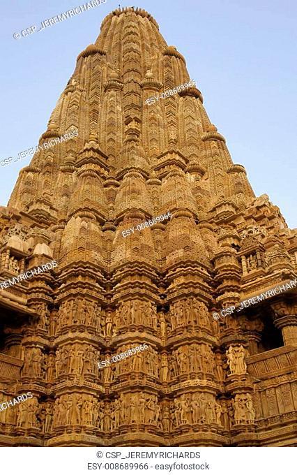 Ornate Hindu Temple at Khajuraho