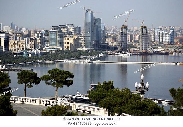The centre of Baku, Azerbaijan, 30 June 2016. The German foreign minister, Frank-Walter Steinmeier, is on a two-day trip to Armenia, Azerbaijan and Georgia