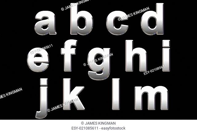 Chrome Alphabet Letters